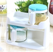 Glass Condiment Set 2x450mL 6012