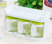 Glass Condiment Set 3x400mL 6014