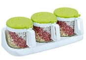 Glass Condiment Set 3x300mL 6016