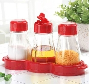 Glass Cruet 3x350mL YH5860