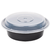 Microwaveable Take-Out Container 16oz. 718B/W (150/Case)