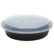 Microwaveable Take-Out Container 48oz. 948B/W (150/Case)