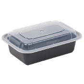 Microwaveable Take-Out Container 24oz. 838B/W (150/Case)
