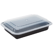 Microwaveable Take-Out Container 28oz. 868B/W (150/Case)