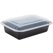 Microwaveable Take-Out Container 38oz. 888B/W (150/Case)