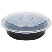 Microwaveable Take-Out Container 24oz. 723B/W (150/Case)
