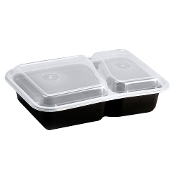 Microwaveable Take-Out Container 30oz. 8288B/W (150/Case)